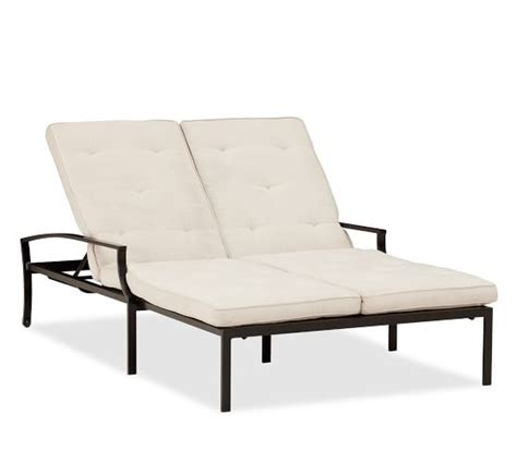 double chaise cushions riviera double chaise cushion pottery barn