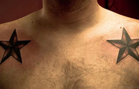 star tattoos on chest for men 51 great tattoos on chest