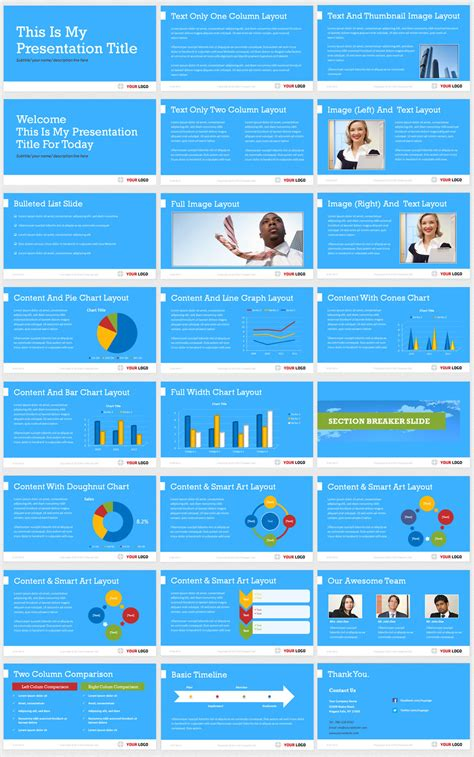 professionally made flexible business presentation template
