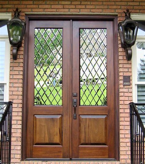 Leaded Glass Front Door Front Door The Beveled Glass Home Entry