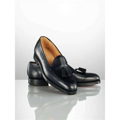 ralph marlow loafer ralph marlow tassel loafer in black for lyst