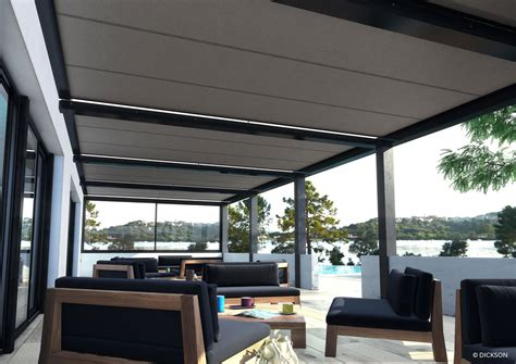 Terrasse In Englisch by Pergola Manufacturer Of Technical Textiles Dickson