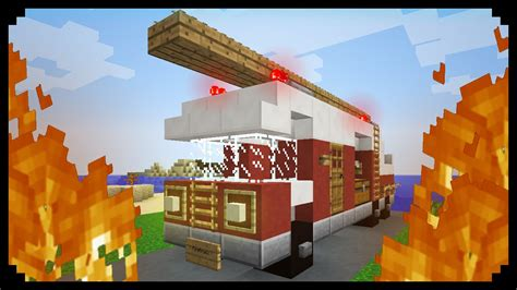 Minecraft How To Make A Fire Truck Youtube