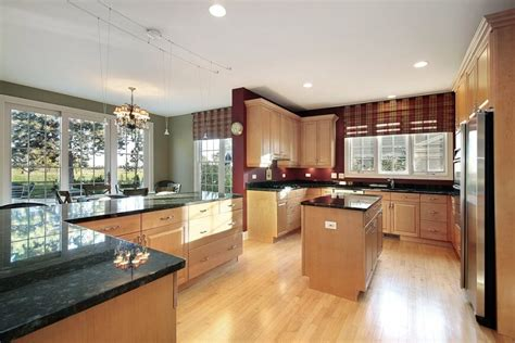 kitchen wall colors with dark wood cabinets 52 enticing kitchens with light and honey wood floors