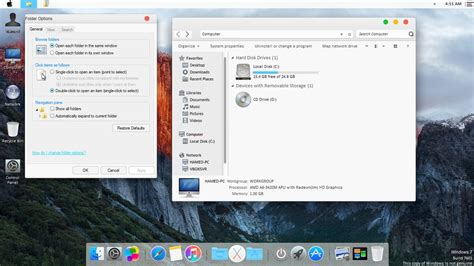 chrome theme el capitan mac os x el capitan theme for win7 by hamed1987s on deviantart