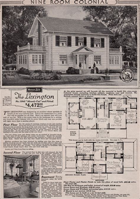 Colonial Revival House Plans by Colonial Revival 1923 Sears Kit House Classic Side