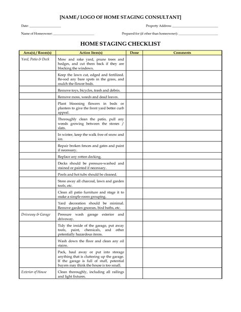 furnishing a house checklist home staging checklist staging pinterest stage real