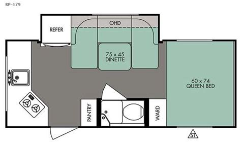 r pod cer floor plans r pod rp 179 travel trailer