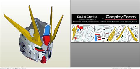 Gundam Wing Papercraft - papercraft pdo file template for gundam wing foam