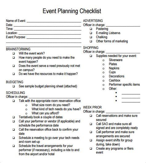 planning checklist template free event beautiful birthday planner