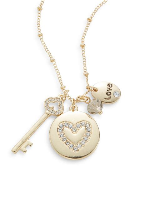 saks fifth avenue pav 227 169 key charm necklace in