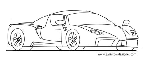 how to draw a 458 junior car designer draw a pencil and in color
