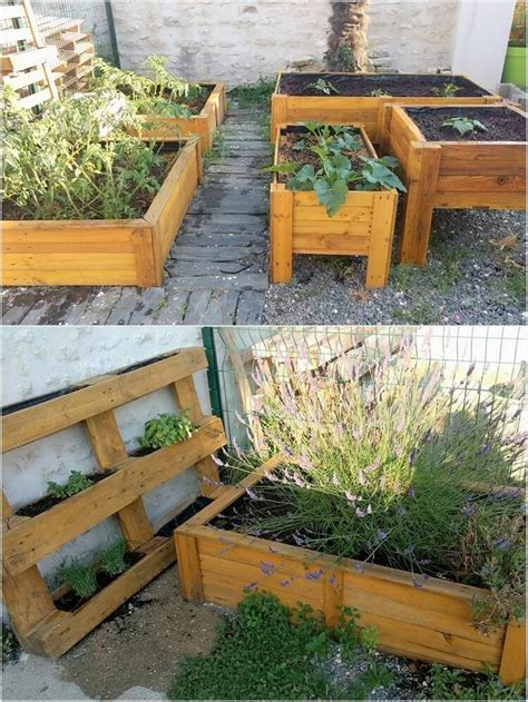 pallet raised garden bed great imaginations for recycling shipping wood pallets