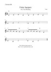Jacques are you sleeping free easy clarinet sheet music notes