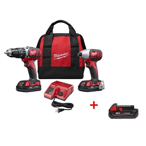 Milwaukee 2697 22ctp M18 Cordless 2 Tool Combo Kit