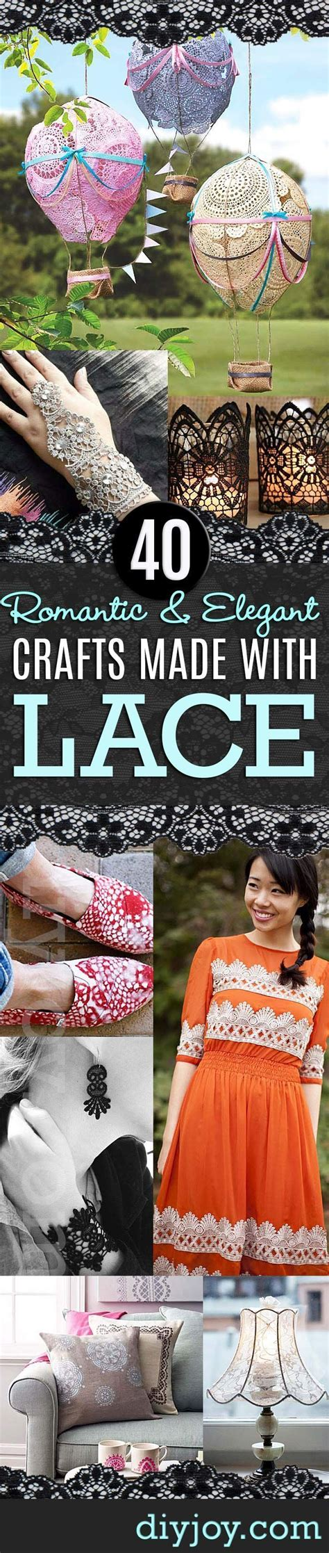 crafts you can with lace crochet lace diy