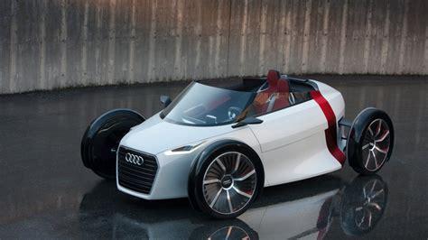 white audi concept small convertible car