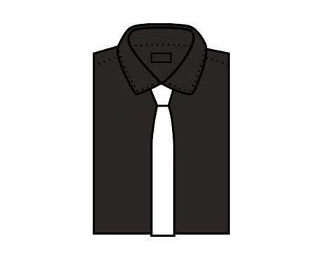 camisa y corbata para colorear camisa y corbata para colorear dibujo de camisa de seda