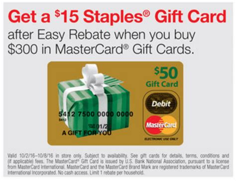 Staples Visa Gift Card Rebate - staples gift card rebate lamoureph blog