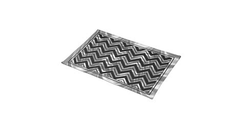 placemat with zigzag pattern black and metallic silver zigzag chevron pattern cloth