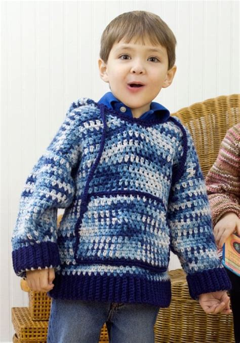 Child Sweatshirt 3 child s hooded sweatshirt in saver economy prints lw2189 knitting patterns