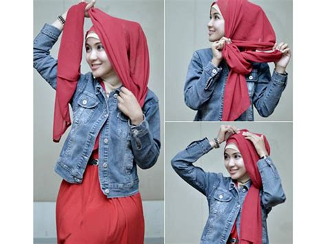 tutorial hijab untuk anak remaja 3 style simpel kerudung segi empat untuk remaja kerudung