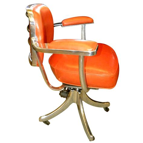 vintage tansad streamline industrial swivel desk chair