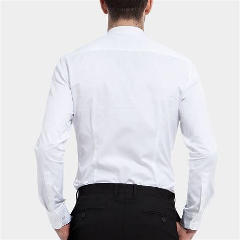 Mao Dress mao collar dress shirt white xs basique touch of