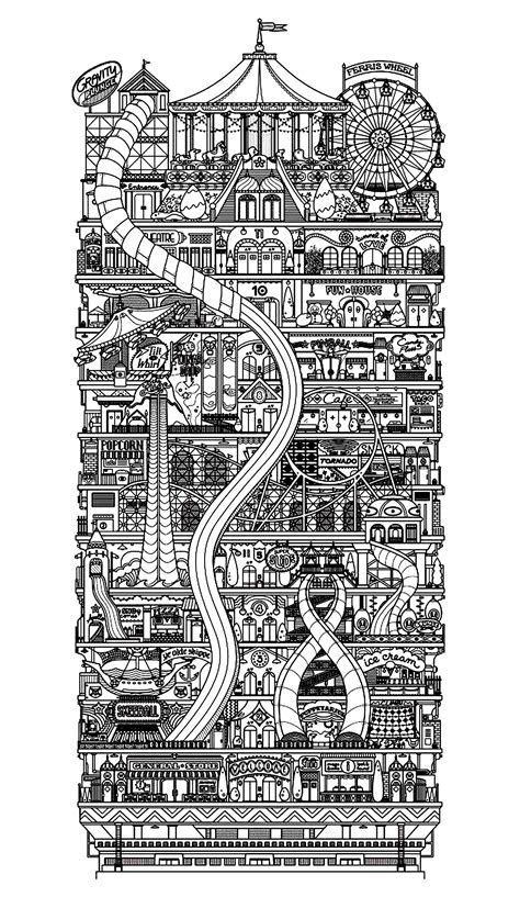coloring pages for adults architecture architecture city vertical architecture and living