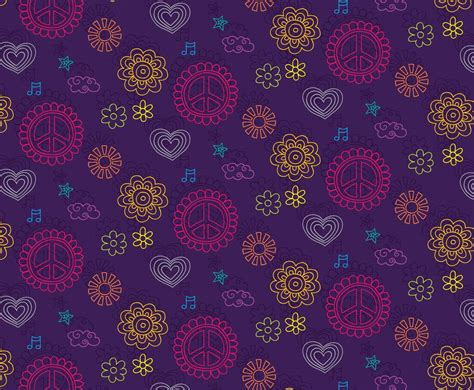 hippie vector pattern hippie pattern background vector art graphics