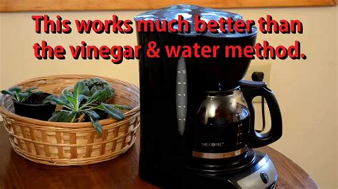 How To Clean A Mr. Coffee Maker with CLR substitute called ZEP!   YouTube