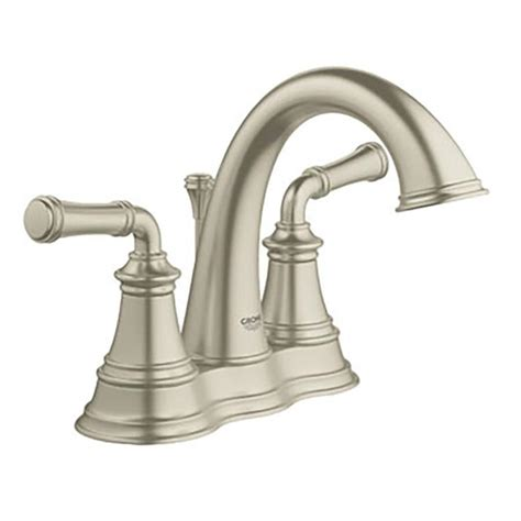 Shop Grohe Gloucester Brushed Nickel 2 Handle 4 In Grohe Bathroom Faucets Brushed Nickel