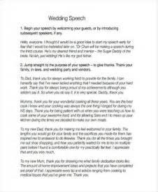 7 Wedding Speech Exles Sles