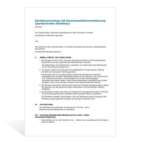 Muster Darlehensvertrag Schweiz Kostenlos Musterschreiben Zum Rckforderung Darlehensgebhr Bei Bauspardarlehen 2063703 Gibt