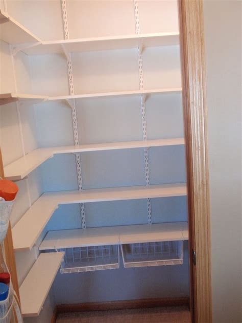 Easy Pantry Shelves by Coat Closet Made Into A Simple Walkin Pantry Hometalk