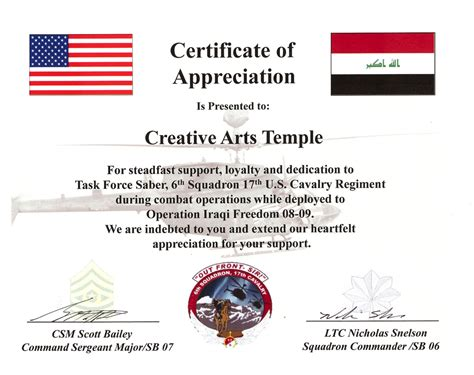 Army Certificate Of Appreciation Template doc 585452 certificate of appreciation template certificate of appreciation