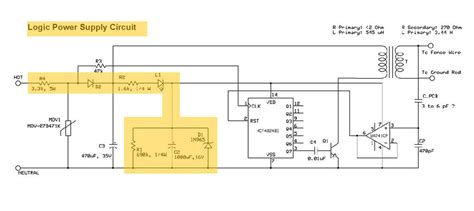 electric fence circuit diagram gt circuits gt engineering an electric fence charger