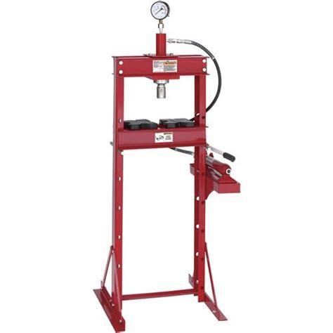 10 ton hydraulic floor press 10 ton floor shop press grizzly industrial