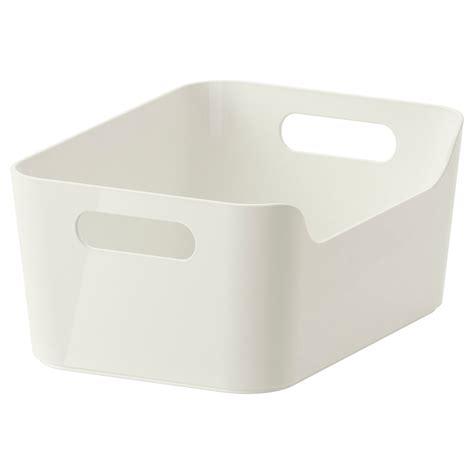 ikea plastic bins variera box white 24x17 cm ikea