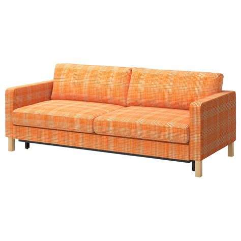 orange slipcover sofa karlstad sofa bed husie orange ikea fun couch with
