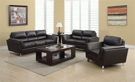 brown leather living room set 8210br dark brown bonded leather living room set 8210br