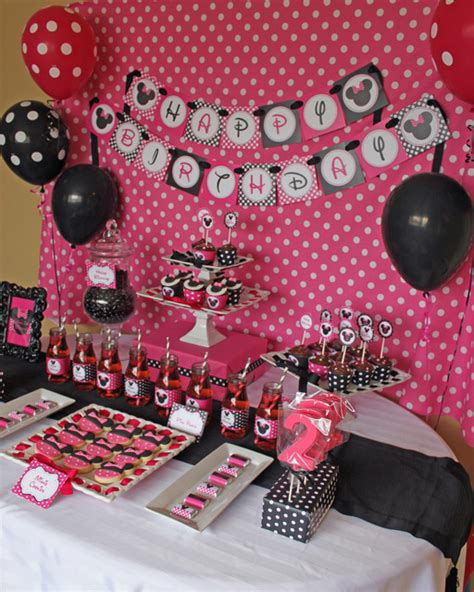 Minnie Mouse Birthday Decoration by Minnie Mouse Birthday Ideas Photo 6 Of 12 Catch