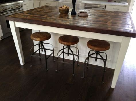 kitchen island countertop ideas 25 best ideas about reclaimed wood countertop on