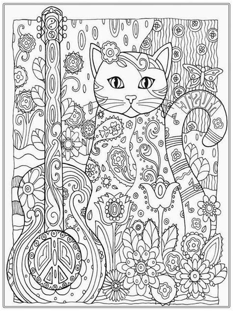 coloring page adult pretty cat coloring pages for adult printable adult