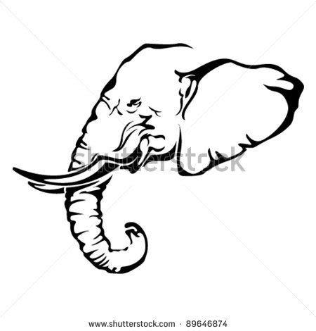 african elephant outline tattoo pinterest images of african elephant tattoo by victor roberto ojeda via