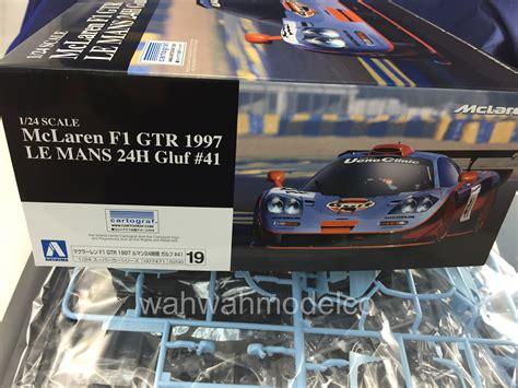 124 Mclaren F1 Gtr 1997 Le Mans 24h aoshima 007464 124 car 13 mclaren f1