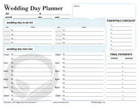 Free printable bride wedding day planner a wedding day planner to