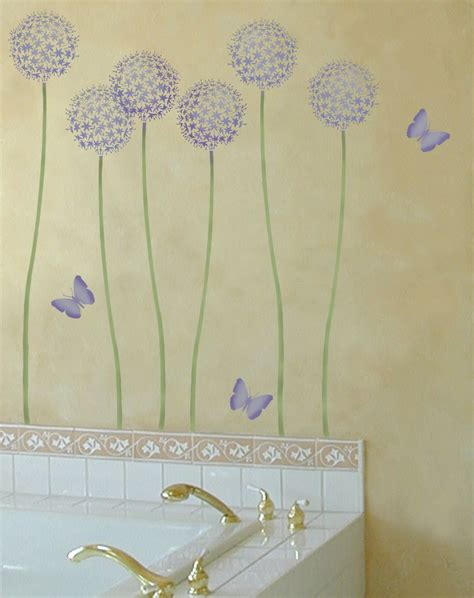 wall painting templates flower stencil allium gladiator reusable wall stencils