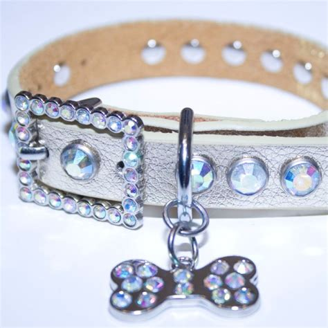 collars with bling gold leather bling rhinestone collar with bling doggie bone charm sizzle city