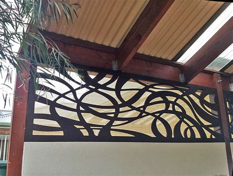 home improvement with a decorative privacy screen closing